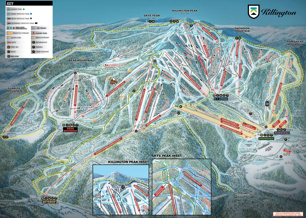 Killington USA Piste Map