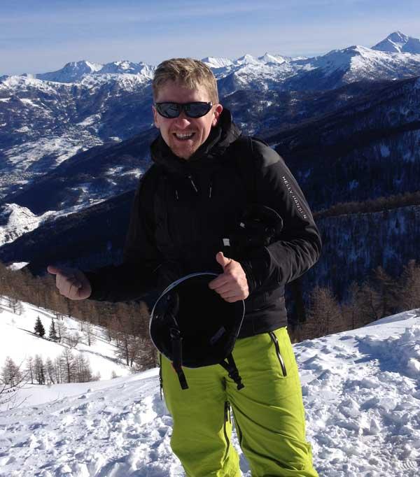 Andy Cleary, Head of Ski, inspireski