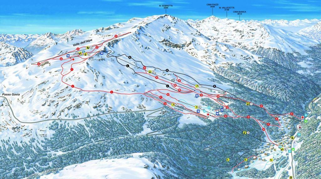 Piste Map Santa Carina