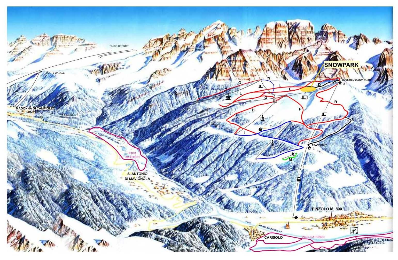 Pinzolo, Italy Piste Map