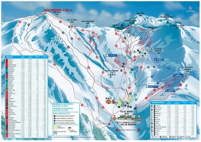 Piste Map of Boi Taull